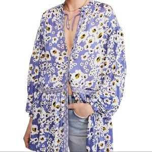 Free People Love Letter Tunic in the Blue Combo
